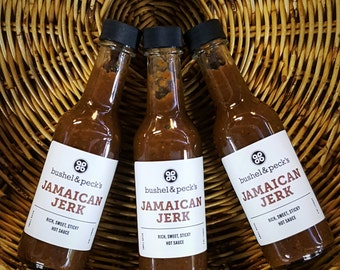 B&P's Jamaican Jerk Hot Sauce - Three Bottles - Small Batch Handmade