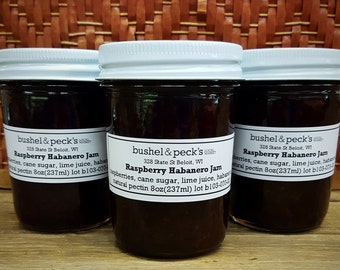 Small Batch Handmade Preserves - B&P's Raspberry Habanero Jam - Set of Three
