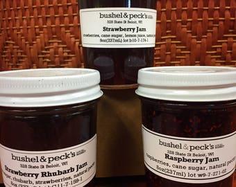 Jam Gift Box ~ Top Three Classics - Strawberry, Strawberry Rhubarb and Raspberry Jam