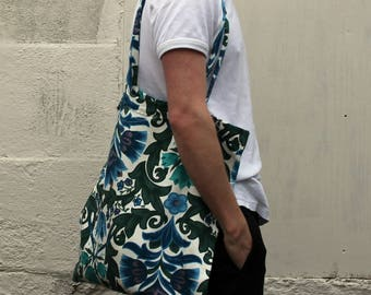 Hand Sewn William Morris Tote Bag