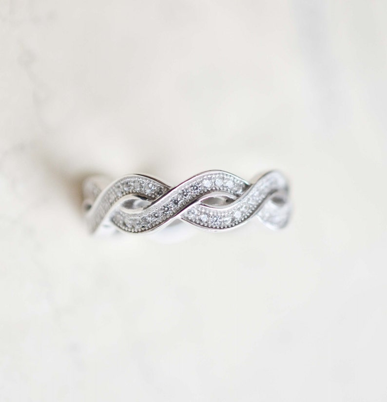 d81341bb41f28 Sterling Silver Infinity Ring - Infinity Knot Ring - Best Friends Infinity  Ring - Stacking Ring - Promise Ring - Infinity Wedding Band