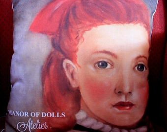 """Cushion Manor of Dolls """"Cecily plague"""" color"""