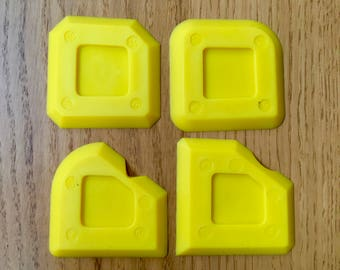 Wild Yellow Spreader - 4 pcs Sealant, Grout Spreader & Wiper for Mosaic and Glass Grouting and Sealing