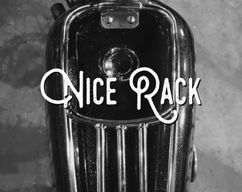 """MotoLady + Inked Iron """"Nice Rack"""" Print"""