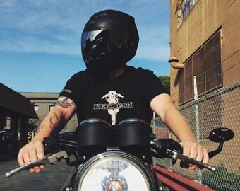 Inked Iron Logo T-Shirt - Black
