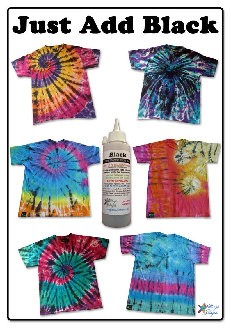 da41a5959e9b REFILL Great Big Tie Dye kit BLACK 7 Rainbow Colours dyes