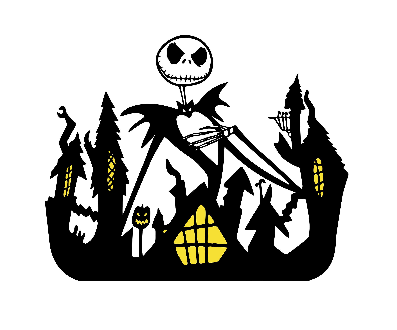 Nightmare Before Christmas Halloween Town Digital DXF PNG | Etsy