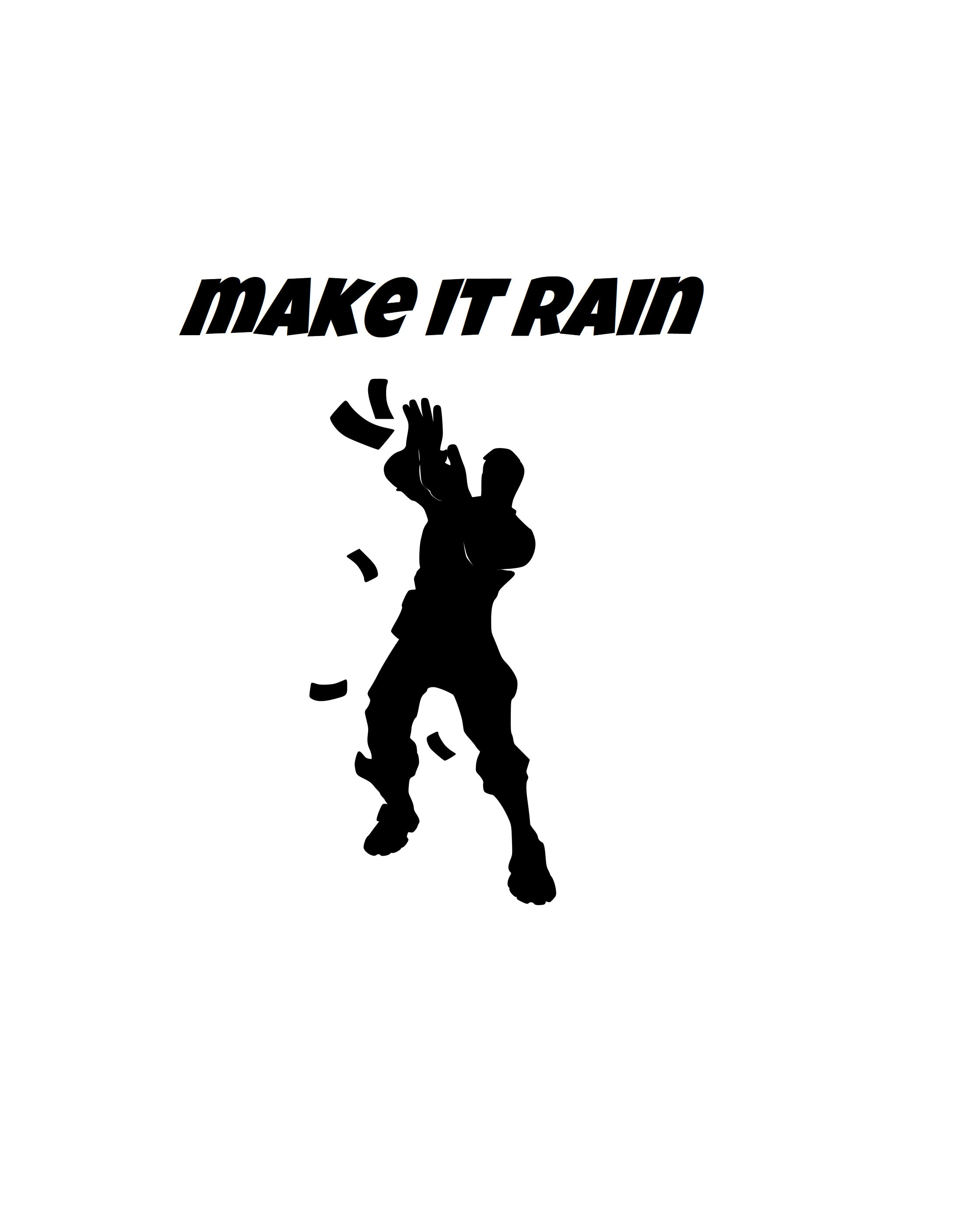 """Download Fortnite Emote! """"Make It Rain"""" SVG 