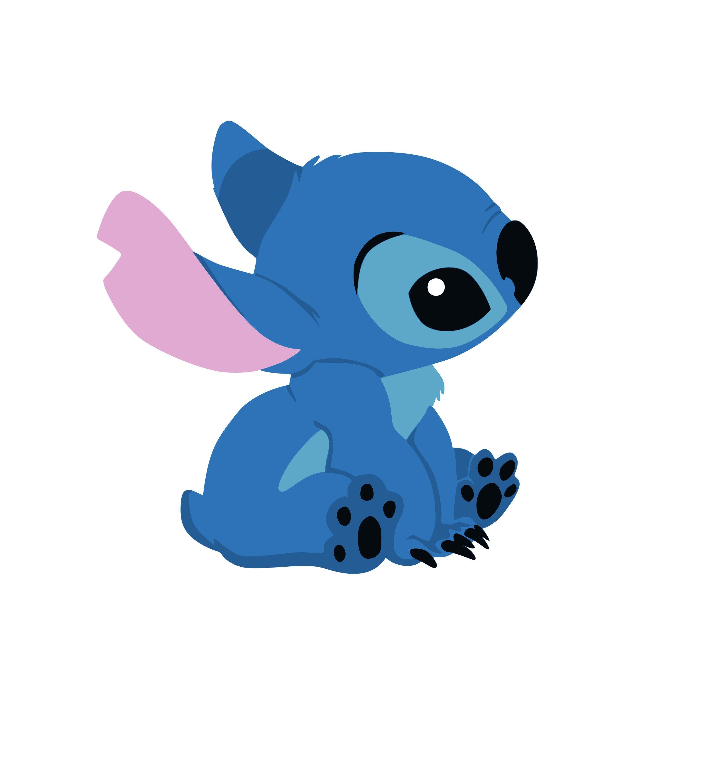 Stitch Cute Lelo & Stitch DXF PNG SVG Files | Etsy