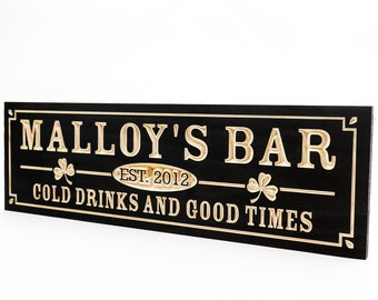 Custom wooden bar sign, Man Cave Sign, Home pub sign, bar sign for home bar, Personalized Custom sign, Father's Day (CWD-764)