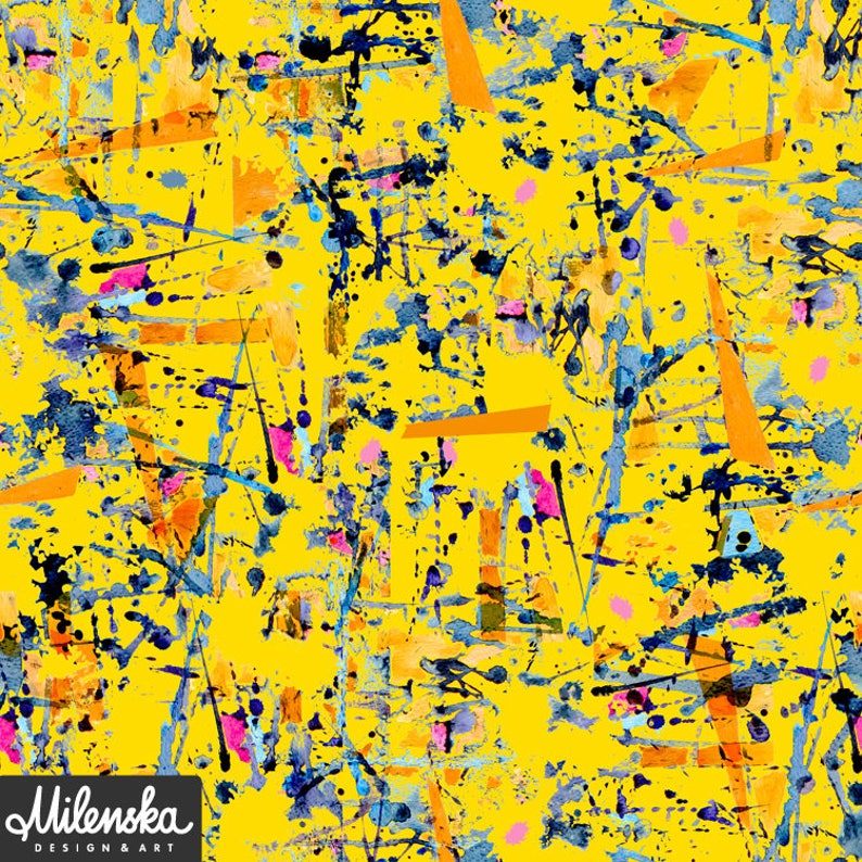 Yellow abstract original pattern design geometric pattern image 0