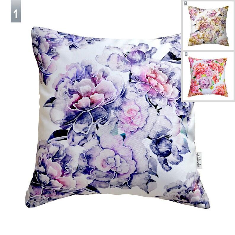 Peonies pillow cover by original design 16x16'40x40cm image 0
