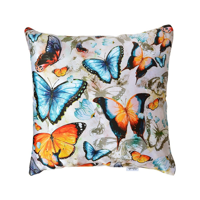 Butterfly pillow cover  original design size: 22x22' image 0