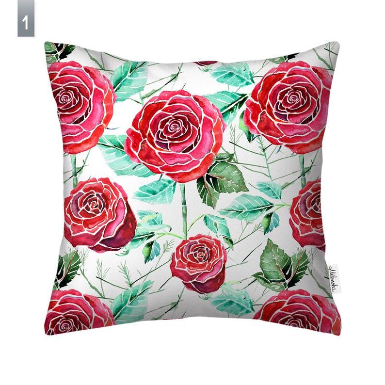 Roses pillowcase by original design  22x22' 55x55 cm image 0