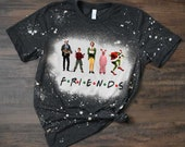 FRIENDS Grinch Griswold Home Alone Elf Custom Christmas Bleach Tee
