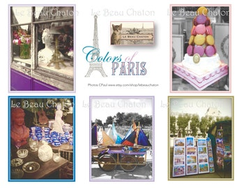 Paris Colors Digital Downloads French original photograph single collage sheet