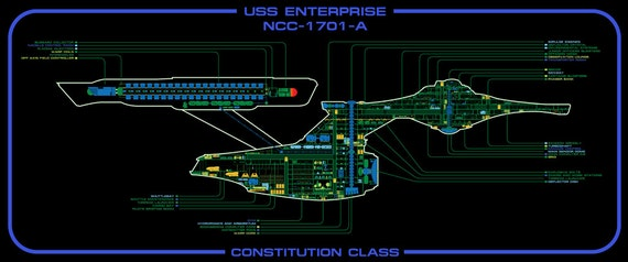 Uss Enterprise Ncc 1701 A Master Systems Display Etsy