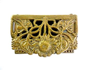 Brass Stamp Sunflower Box