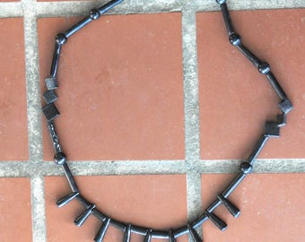 Carved Ebony African Necklace