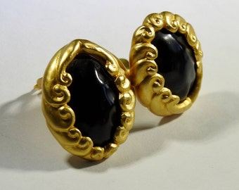 Karl Lagerfeld Gold tone Black Earrings