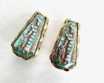 Whiting & Davies Egyptian Revival Earrings