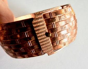 Etched Copper Belt Cuff