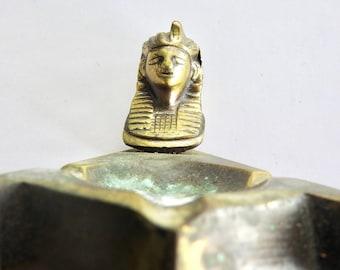 Egyptian Revival Bronze Ash Tray