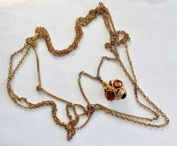 Goldette Style Multi Chain Bauble Necklace