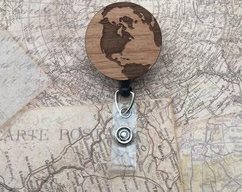 Earth Badge Reel/Holder