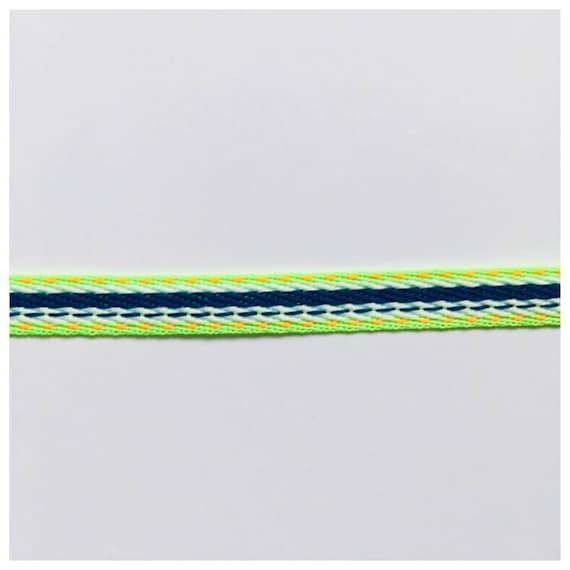 Woven ribbon ethnic multicolor khaki   0.40 in 10 mm