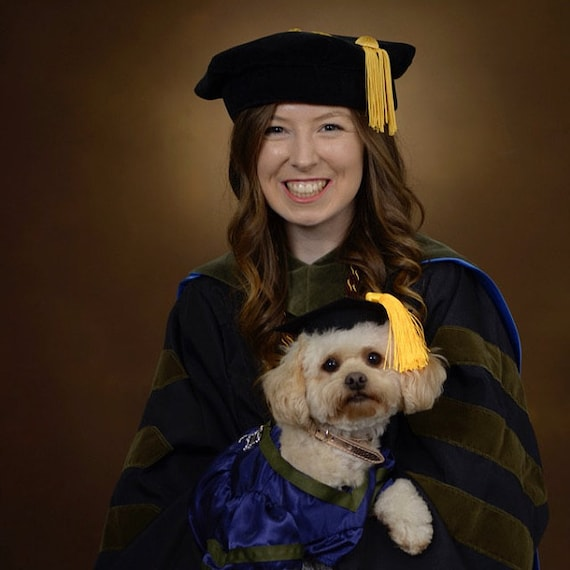 Dog Graduation Cap Gown Therapy Dog Graduation Cap Etsy