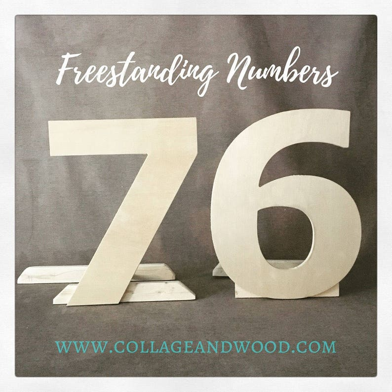 0d8e6438fb9 Freestanding wooden letters and numbers 50th birthday