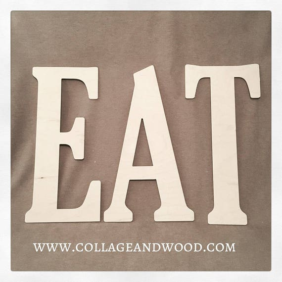 EAT Wall Letters Wooden EAT Letters Kitchen Wall Decor