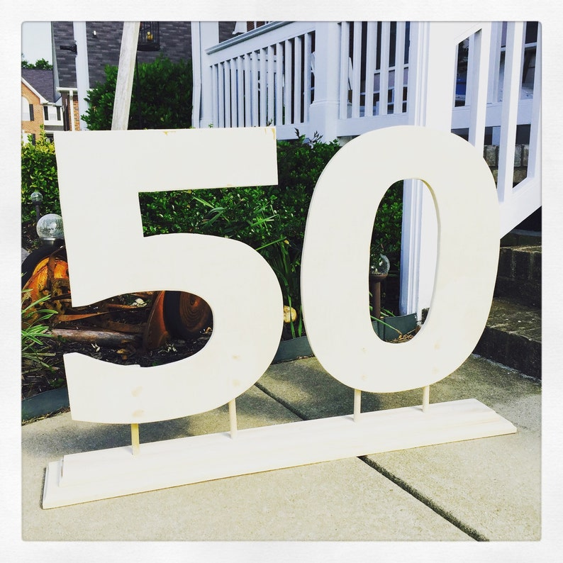 868fa992cf3 50th birthday 40th birthday wooden numbers with stand