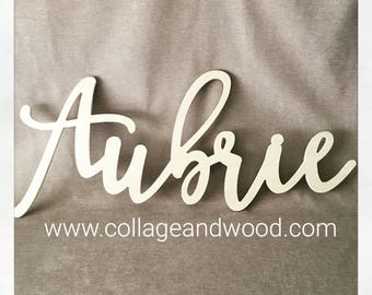FREE SHIPPING! Name sign, Nursery wall letters, wood letters, names, wooden script letters, wooden letters, wood letters, wall names.