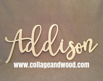 FREE SHIPPING! Name sign, Nursery wall letters, wood letters, wooden letters, wood letters word photo props, wall names.