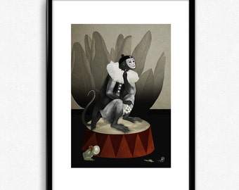 PIERROT - Illustration Digital collage