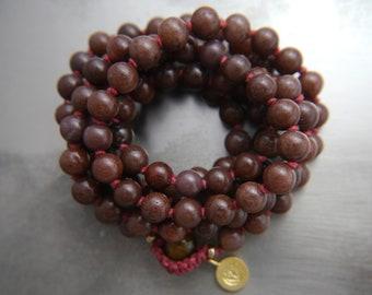 Mala Beads, 108, Purple Aventurine, Mala Necklace, Mala Bracelet, Gemstone Beads, Gemstone Necklace, Long Beaded Necklace, No Tassel, Charm