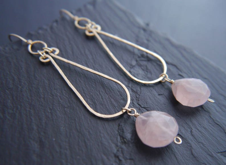Pink Rose Quartz Pear Briolette Facet Cut Gems Silver Plated Chain To Be Distributed All Over The World Jewelry & Watches Fashion Jewelry