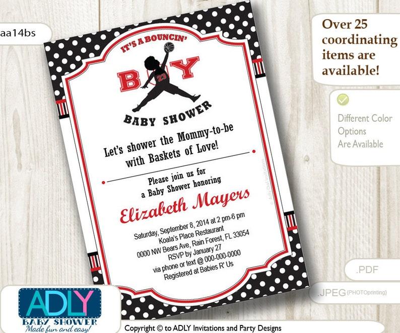 on sale 81e17 472b0 Bouncin  Boy Baby Shower InvitationAir Jordan inspired   Etsy