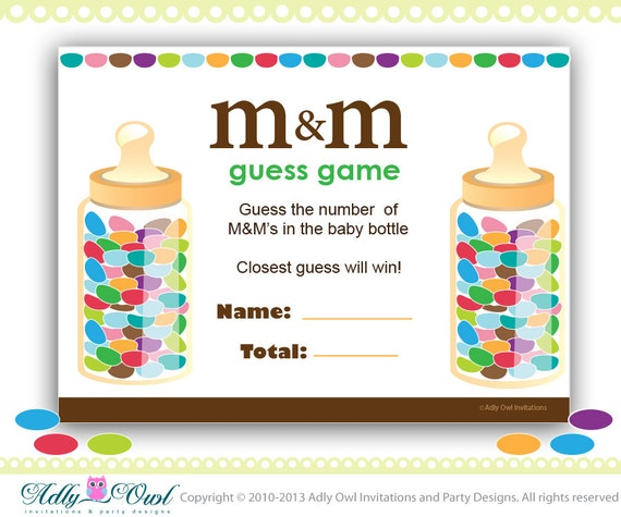 M Ms Baby Shower Game Printable Fun Baby Shower Games Etsy