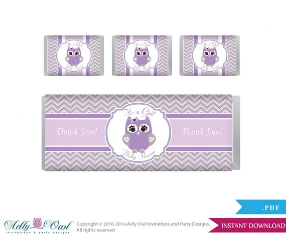 Purple Owl Chocolate Bar Wrapper And Nuggets Candy Wrapper