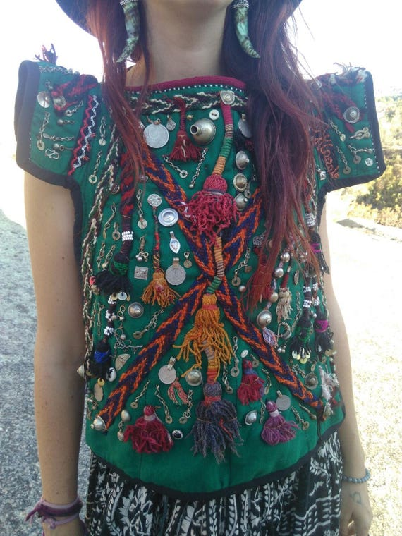 Afghan embroidery top
