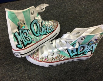 91a0dda57c6e Quinceanera Shoes not original converse