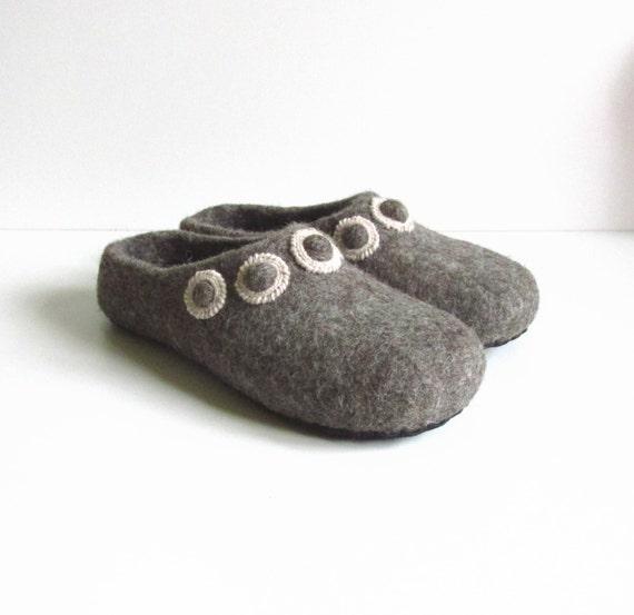 wool slippers brown felted wool grey felt slippers slippers shoes women shoes women's felt slippers slippers house Felted UBSwWxtq5Z