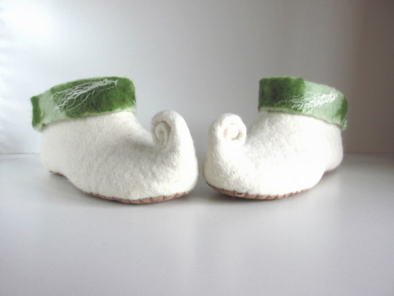 wool felt house gnome green wool women slippers slippers white felted shoes slippers slippers Felted slippers slippers elf PgCwpwq