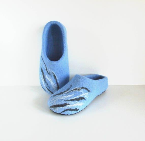 slippers shoes women's blue wool slippers women felted house felt shoes slippers natural slippers Felted felt slippers wool FOaqHIxw