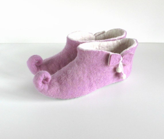 shoes wool women Felted slippers slippers felt slippers elf slippers gnome white slippers felted wool slippers house purple ng5nqPz