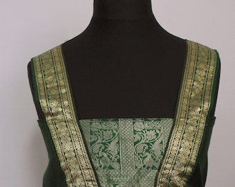1920's Green Velvet Dress with Silk, Roaring Twienties