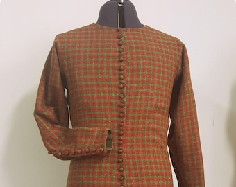 Men's Plaid Medieval Cottehardie 14th Century